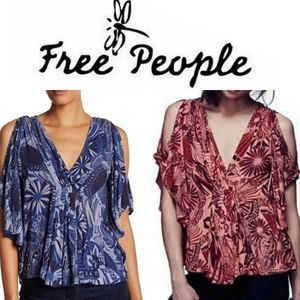 👚Bogo👚🍃⚘Free People⚘🍃Amour Printed Tops